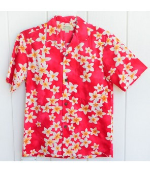 Hawaiian Cotton Aloha Shirt [ Plumeria ] Pink