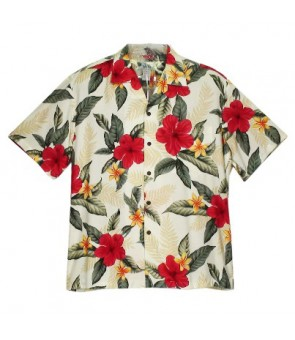 Hawaiian Rayon Boys Aloha Shirt [ Leilani ] Cream