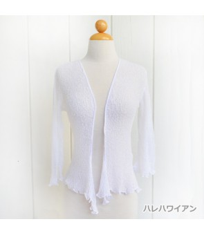 Ladies Outerwear [ Tropical Mesh Cardigan ] White