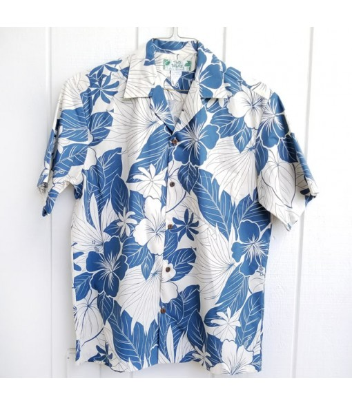 Hawaiian Cotton Aloha Shirt [ Lanai ] Blue