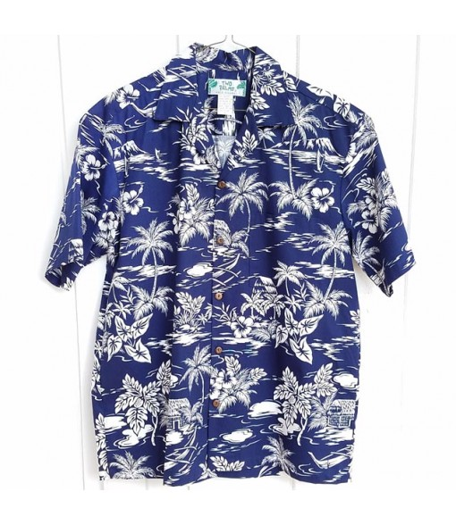 Hawaiian Cotton Aloha Shirt [ Love Shack ] Blue