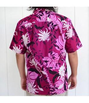 Hawaiian Cotton Aloha Shirt [ Makapu'u ] Purple