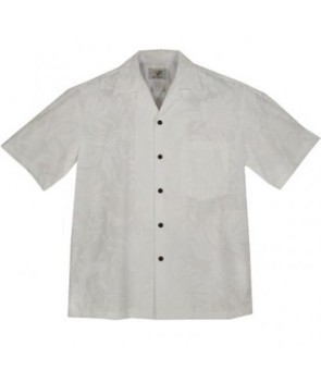 Hawaiian Cotton Aloha Shirt [ Makapu'u ] White