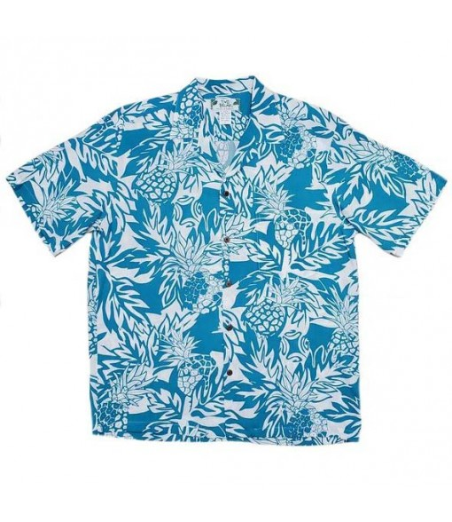Hawaiian Rayon Aloha Shirt [ Wild Pineapple ] Aqua