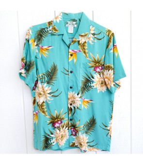 Hawaiian Rayon Aloha Shirt [ Ceres ] Green