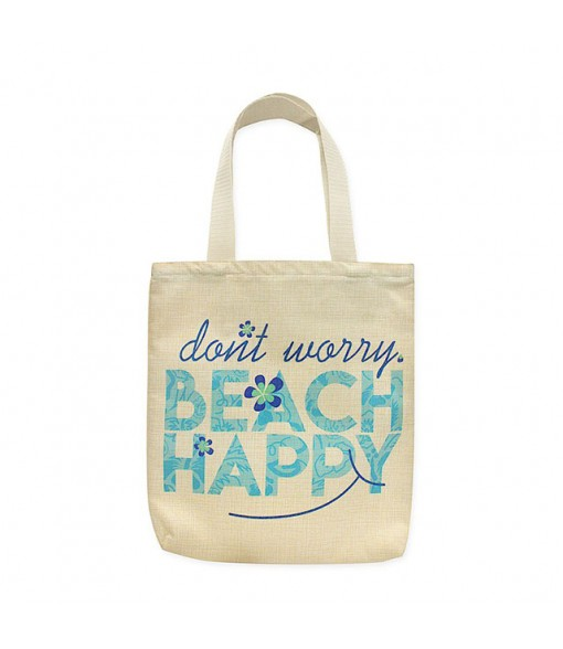 Woven Tote Bag [ Beach Happy ]