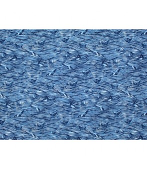 Hawaiian Cotton Fabric BQ-18-1115 [ Humpback Whale ] Navy
