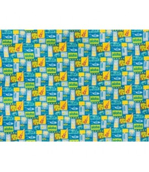 Hawaiian Cotton Fabric LW-16-501 [ Tropical Motif ] Turquoise