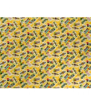 Hawaiian Canvas Cotton Fabric MY-17-179 [ License Plate ] Yellow