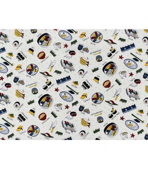 Hawaiian Cotton Fabric MY-19-226 [ Sushi ] Beige