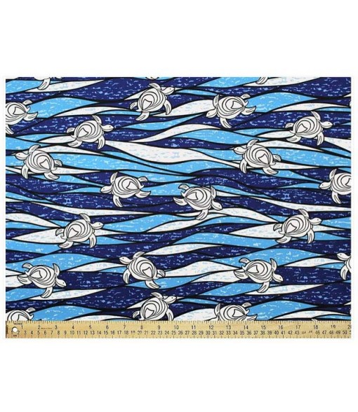 Hawaiian Cotton Fabric CHOE-549 [ Ocean Turtle ] Blue