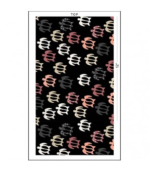 Hawaiian Cotton Fabric CHOE-554 [ Honu ] Black