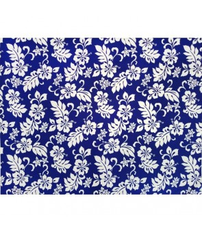 Hawaiian Cotton Fabric TKJ-03-285 [ Hibiscus / Plumeria ] Navy