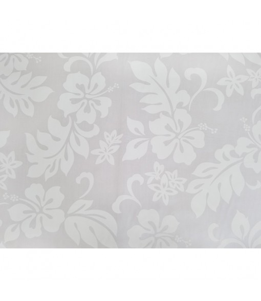 Hawaiian Cotton Fabric TKJ-03-285 [ Hibiscus / Plumeria ] White