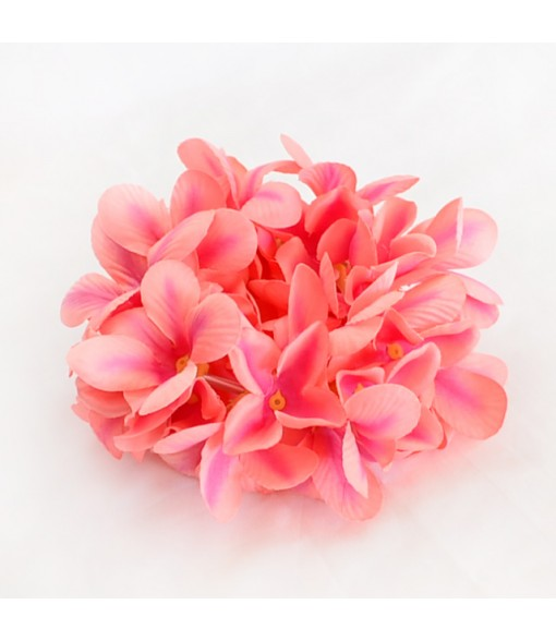 Silk Flower Bracelet [ Aloha Plumeria / Double ] Peach