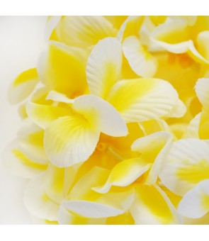 Silk Flower Bracelet [ Aloha Plumeria / Double ] Yellow