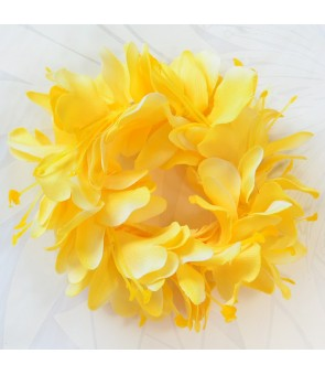 Silk Flower Bracelet [ Kahili Ginger ] Yellow