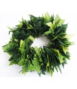 Silk Flower Bracelet [ Leaf Fern / Double ] 2-Tone