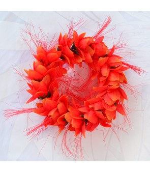 Silk Flower Bracelet [ Ohai Ali'i ] Orange