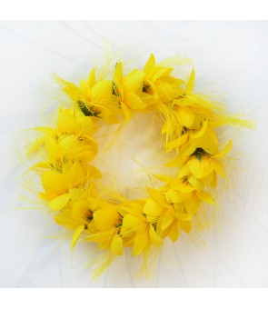 Silk Flower Bracelet [ Ohai Ali'i ] Yellow
