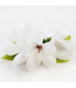 Silk Flower Hair Clip [ Plumeria ] White