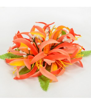 Silk Flower Hair Clip [ NEW Spider Lily ] Orange