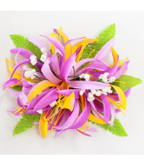 Silk Flower Hair Clip [ NEW Spider Lily ] Violet