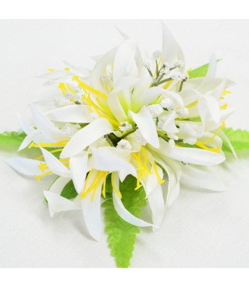 Silk Flower Hair Clip [ NEW Spider Lily ] White Lemonade