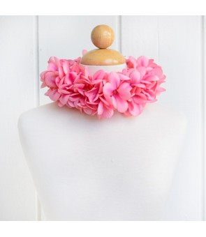 Silk Flower Headband [ Aloha Plumeria / Double ] Peach