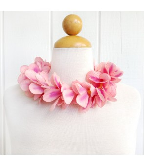 Silk Flower Headband [ Aloha Plumeria / Hula ] Peach