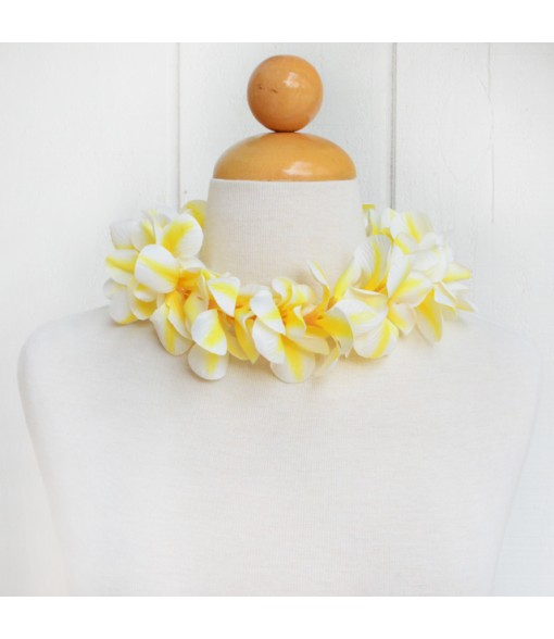 Silk Flower Headband [ Aloha Plumeria / Hula ] Yellow
