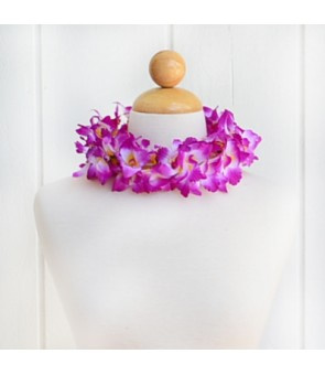Silk Flower Headband [ NEW Orchid / Double ] Lavender