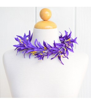 Silk Flower Headband [ Spider Lily ] Dark Purple