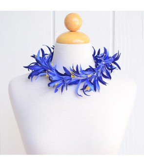 Silk Flower Headband [ Spider Lily ] Navy Blue