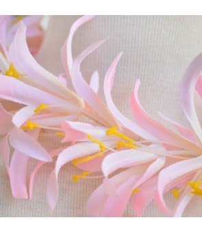 Silk Flower Headband [ Spider Lily ] Pink