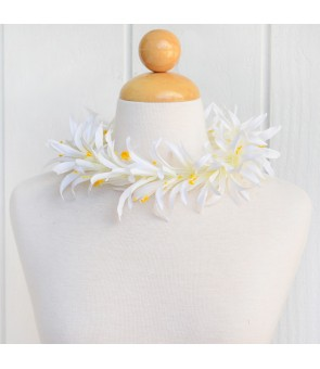Silk Flower Headband [ Spider Lily ] White