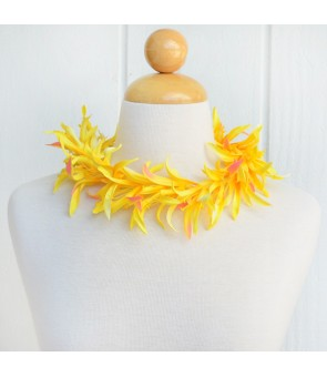 Silk Flower Headband [ Spider Lily ] Yellow