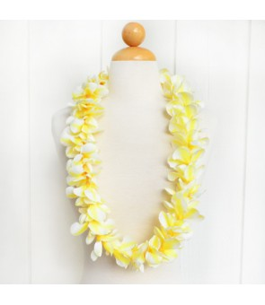 Silk Flower Lei [ Aloha Plumeria / Hula ] Yellow
