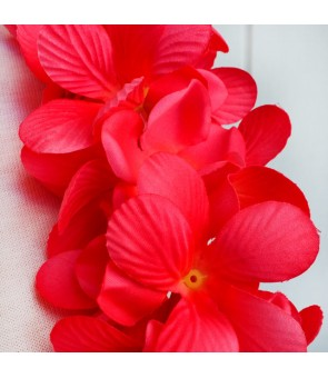 Silk Flower Headband [ New Plumeria Double ] Carmine Red