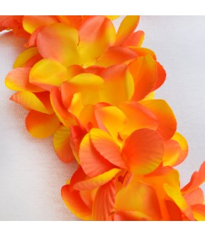 Silk Flower Headband [ New Plumeria Double ] Golden Orange
