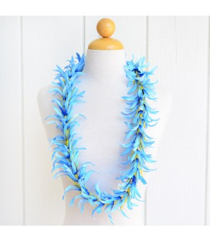 Silk Flower Lei [ NEW Spider Lily ] Sky Blue