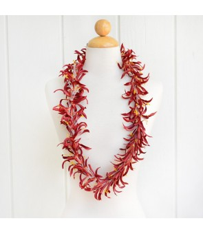 Silk Flower Lei [ Spider Lily ] Brown
