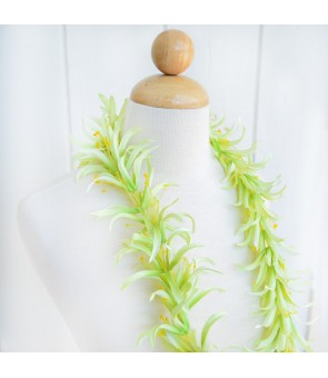 Silk Flower Lei [ Spider Lily ] Green