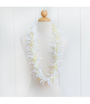 Silk Flower Lei [ Spider Lily ] White