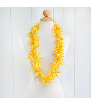 Silk Flower Lei [ Spider Lily ] Yellow