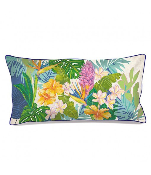 Lauren Roth Embroidered Pillow Cover [ Island Blossoms ]