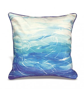Lauren Roth Embroidered Pillow Cover [ Ocean Dream ]