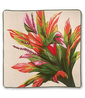 Embroidered Pillow Cover [ Ti Leaf ]