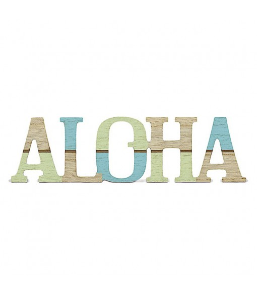 Laser Cut Wood Sign [ ALOHA ]