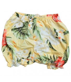 Hawaiian Cotton Baby Cabana Set [ Orchid Hibiscus ] Yellow